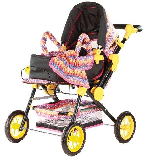 Götz 3402205 Puppenwagen, 4-rädrig, mit hochwertigem