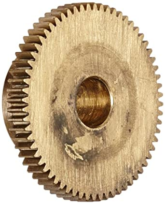 "Brass Pinion Gear 64P 20 Deg Pressure Angle 64Teeth x .250"" Bore x 1.00"" Pitch Dia"