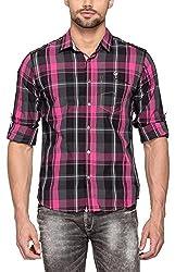 Spykar Men Cotton Pink Casual Shirt (Large)