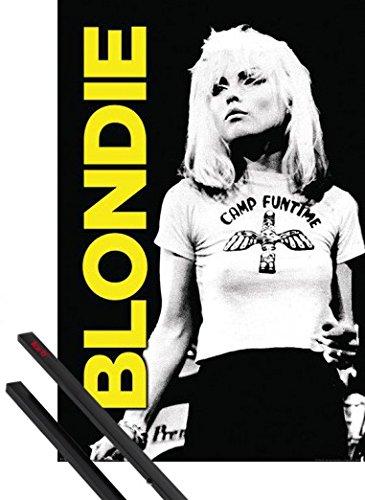 Poster + Sospensione : Blondie Poster Stampa (91x61 cm) Camp Funtime E Coppia Di Barre Porta Poster Nere 1art1®