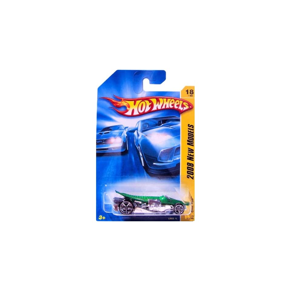 Hot Wheels CROC ROD Faster Than Ever {FTE} wheels, Crocodile Hot Rod Collector Green #18 1/64 2008