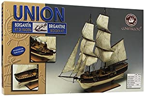 UNION (BRIGANTINE) WOODEN MODEL SHIP KIT CONSTRUCTO 1:100 SCALE WITH PAINTS FREE TOOLS