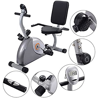 Goplus® Recumbent Exercise Bike Stationary Bicycle Cardio Workout Fitness Home Gym New