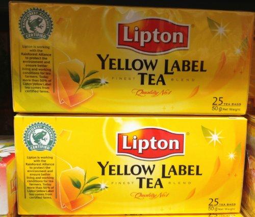 2 X Lipton Yellow Label Tea 25 Bags Finest Blend