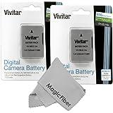 (2 Pack) Vivitar EN-EL14 / EN-EL14a Ultra High Capacity 2300mAH Li-ion Batteries for NIKON DSLR D5500 D5300 D5200 D5100 D3300 D3200 D3100, COOLPIX P7800 P7700 P7100 P7000, Nikon DF (Nikon EN-EL14 Replacement)