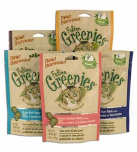 Greenies 428572 Green Feline Dental Salmon Treats 2.5 Oz.