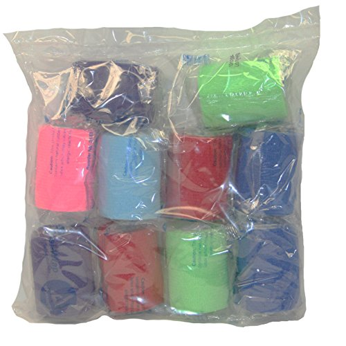 """First Voice TS-3183 Sterile Self-Adherent Stretch Sensi-Wrap Bandage, 5 yds Length x 3"""" Width (Pack of 10)"""
