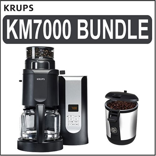 cf coffee maker: Krups (KM7000) Grind-and-Brew 10-Cup Coffeemaker w/ (ED150) Bean Vac Coffee ...