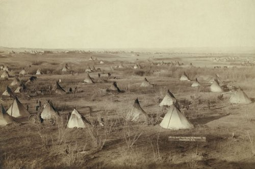 The Great Hostile Camp - Lakota, By John C.H. Grabill, 12X18 Paper Giclée front-1028820