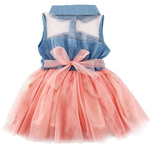 YOMIYOKA Baby Girl Dress 1 - 4 Years Flower Wedding Princess Bowknot Party Dresses (2 Years, Pink)