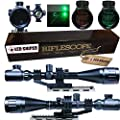 Ledsniper® 2 In1 6-24x50 Hunting Rifle Scope Mil-dot Illuminated Snipe Scope &+Tactical green Laser Sight from Ledsniperus Seller