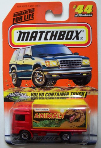 Matchbox 1998-44/75 Animals Series 6 Volvo Container Truck 1:64 Scale - 1