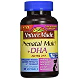 Nature Made PrenatalMulti + DHA 200 Mg  Softgels, Value Size, 60 + 30 Liquid softgels