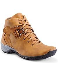 Bintpul Men's Tan Synthetic Leather Casual Shoes