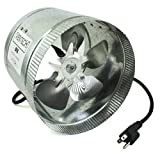 VenTech VT DF-8 DF8 Duct Fan, 400 CFM, 8