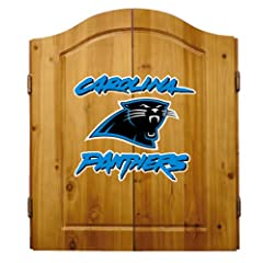 Buy NFL Carolina Panthers Solid Pine Cabinet And Bristle Dartboard Set by Imperial