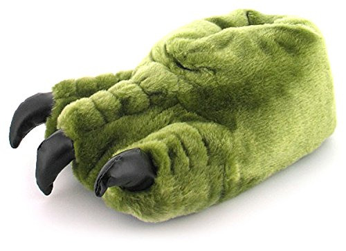 mens-gents-green-novelty-monster-claw-slippers-ideal-christmas-gift-khaki-uk-size-10