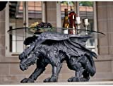 "Kneeling Dragon Table with Glass 39""L # 93039"