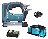 Makita 18V LXT BST221 BST221Z BST221Rfe Stapler, BL1830 Battery, DC18RC Charger And DK18027 Bag
