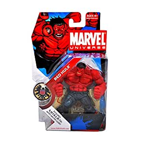 Hasbro Marvel Universe Year 2008 Series 1 Single Pack 4-1/2 Inch Tall Action Figure #28 - RED HULK with S.H.I.E.L.D File with Secret Code