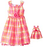 Dollie & Me Girls 7-16 Plaid Dress with Crinolin