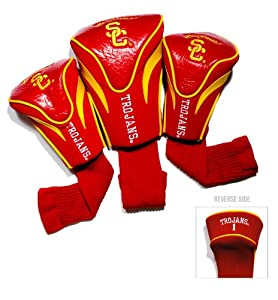 Usc Trojans Ncaa 3 Pack White Contour Fit Headcover by Team Golf
