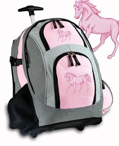 Rolling Backpack Deluxe Horses Backpacks