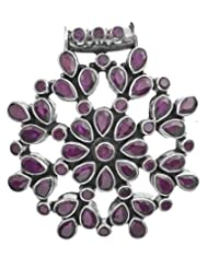 Exotic India Chakra Pendant With Gems - Sterling Silver