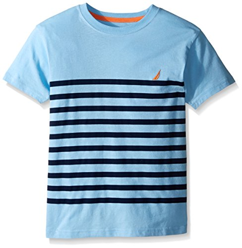 Nautica Big Boys' Short Sleeve Mid Stripe Tee, Cool Breeze, Large (Nautica Cool compare prices)