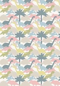 Pink blue grey cream dinosaur fabric children 39 s fabric for Grey dinosaur fabric