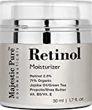 Retinol Cream From Majestic Pure for Face and Eye Area Will Nourish Your Skin, Potent Anti Aging Formula Reduces the Appearances of Wrinkles, Stretch Marks & Redness, 50ml