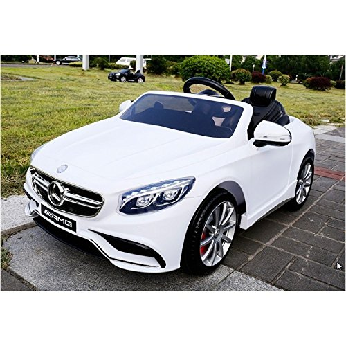 ultimate licensed 12v mercedes s63 battery operated ride on car for kids wit remote control white