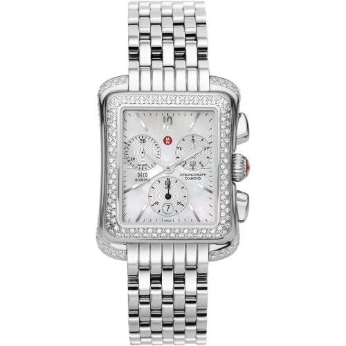 Michele Woman's MWW06Q000001 Deco Moderne Stainless Steel Bracelet Watch