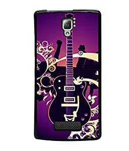 printtech musicGuitar Colored Pattern Back Case Cover for Lenovo A2010
