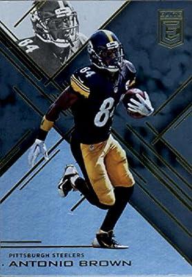 2016 Donruss Elite #9 Antonio Brown Pittsburgh Steelers Football Card in Protective Screwdown Display Case