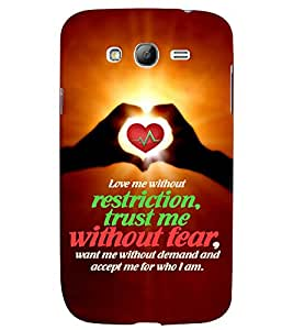 PRINTVISA Quotes Love Case Cover for Samsung Galaxy Grand Neo Plus