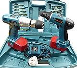 18v 1Pair Twin Cordless drills Srewdriver Power Tools Plus Drill Bits