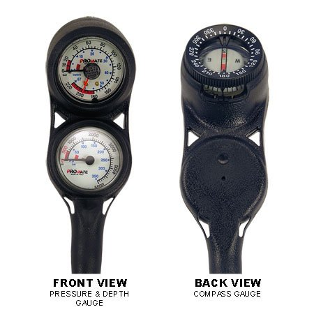 Promate Mini Scuba Diving Pressure and Depth Gauge with Compass Console (Made in Italy) (Scuba Console compare prices)