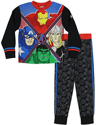 Marvel Boys' Avengers Pajamas Iron Man Captain America Thor Hulk