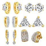 Jewels Galaxy All IN ONE Collection Combos Of Fancy American Diamond Earrings- Combo Of 6