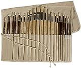 アートアドバンテージ アクリル&高級天然豚毛筆 水彩&油絵用筆24本セット