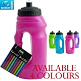 Sports Bottle - One Handed - Pop-Up Top - Carry Handle (Pink)