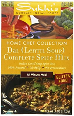 Sukhi's Dal (Lentil Soup) Spice Mix, 0.4-Ounce Packets (Pack of 12)