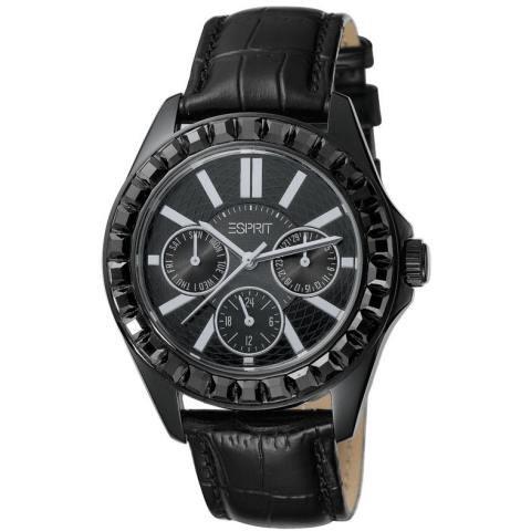 Esprit ES102392002 - Reloj para mujeres, correa de cuero color negro