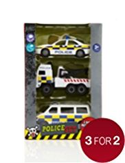 3 Police Vehicles Set