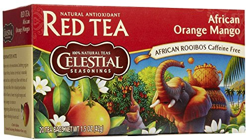 Celestial Seasonings African Orange Mango Rooibos Red Tea Bags, 20 Ct (3 Pack)