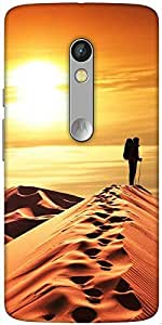 Snoogg Desert Sunset Designer Protective Back Case Cover For Motorola Moto X Play