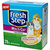 Fresh Step Premium Scoopable Unscented Clumping Cat Litter Multiple Cat Strength, 25 lbs.