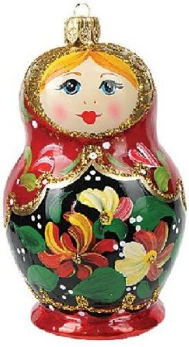 Matryoshka Nesting Doll Polish Glass Christmas Ornament Made Poland Decoration (Dolls Made Of Glass compare prices)
