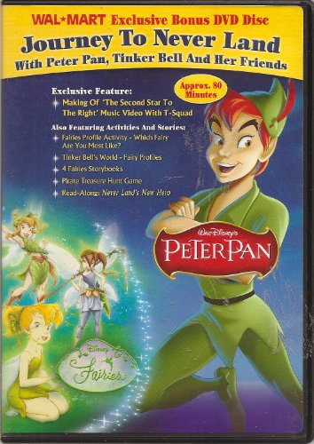 Journey To Never Land: with Peter Pan, Tinker Bell and Her Friends-- WALMART Exclusive Bonus DVD - 1